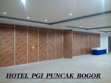 Partisi lipat Hotel PGI Puncak Bogor